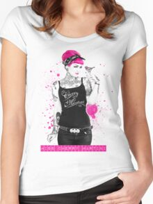 """""""A Splash of Colour"""" Women's Fitted Scoop T-Shirt"""
