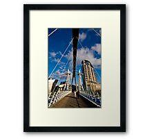 Millenium Bridge, Salford Quays Framed Print