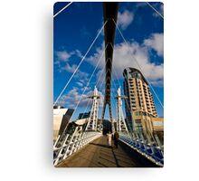 Millenium Bridge, Salford Quays Canvas Print