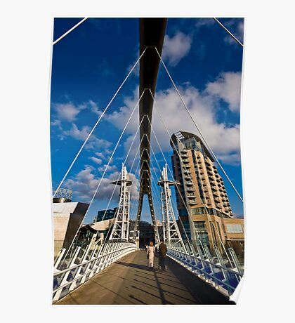 Millenium Bridge, Salford Quays Poster