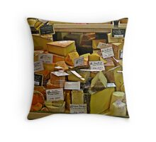 """""""French Street Market in Chaors"""" Throw Pillow"""