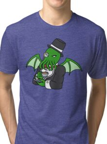 Gentlemanly Cthulhu Tri-blend T-Shirt