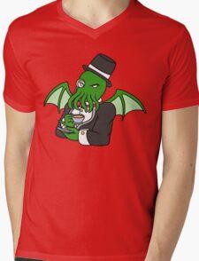 Gentlemanly Cthulhu Mens V-Neck T-Shirt