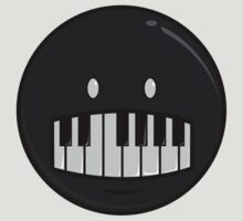 Black PIano Smile by dabones