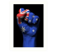 Flag of Australia on a Raised Clenched Fist  Art Print