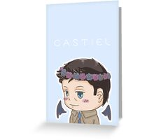 cas in a flower crown Greeting Card