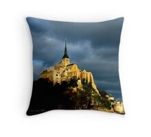 Mt St Michel Throw Pillow