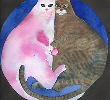 Fat Cats Cuddling. by CCallahan