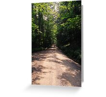 West Virginia Back Road Greeting Card