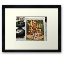 at the auction. . .  Framed Print