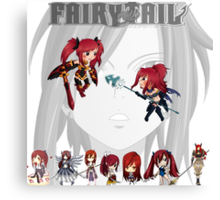 fairy tail erza scarlet anime manga shirt Canvas Print