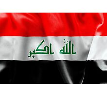 Iraq Flag Photographic Print