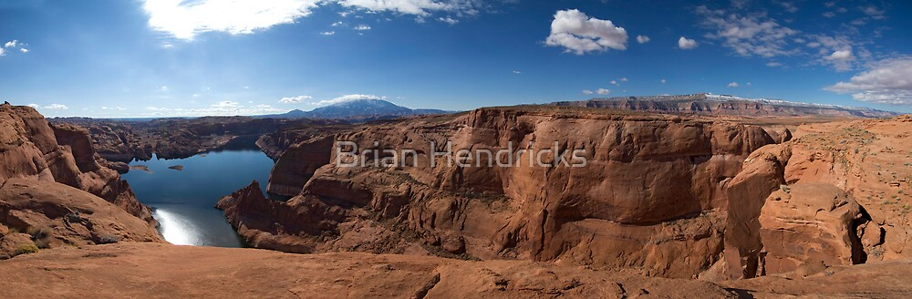 At the End of Hole-in-the-Rock Road. Utah by Brian Hendricks