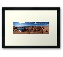 At the End of Hole-in-the-Rock Road. Utah Framed Print