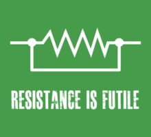 Resistance is futile - White foreground One Piece - Short Sleeve