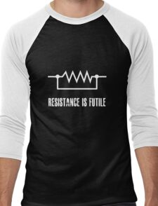 Resistance is futile - White foreground Men's Baseball ¾ T-Shirt