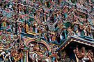 Shree Meenakshi Temple gate, Madurai, India by Syd Winer