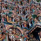 Shree Meenakshi Temple gate, Madurai, India by Syd Winer