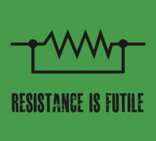 Resistance is futile - black foreground Baby Tee