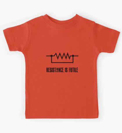 Resistance is futile - black foreground Kids Tee