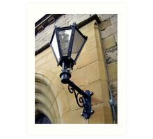 a Lamp over the church Art Print