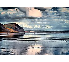 Low Tide at Charmouth Photographic Print