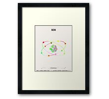 Neon - Element Art Framed Print