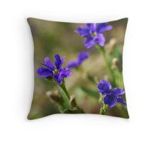 blue dampiera Throw Pillow