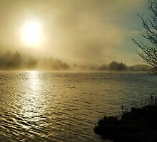 Mist on the Caledonian Canal by MistyIsle