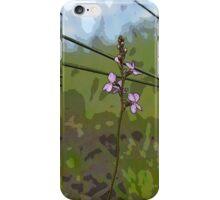 tri panel pink wildflowers iPhone Case/Skin