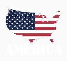 god bless america Kids Tee