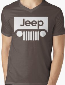 Jeep Funny Geek Nerd Mens V-Neck T-Shirt