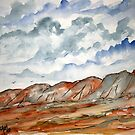 desert landscape painting by derekmccrea