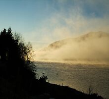 Caledonian Canal in Mist by MistyIsle