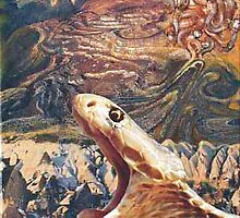 Desert Mountain with Snake by Heinz Sterzenbach