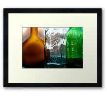 Plastic Is Overrated Framed Print