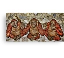 see no evil..hear no evil..speak no evil~ Canvas Print