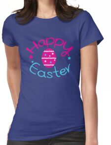 Happy easter holiday Womens Fitted T-Shirt