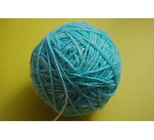 home dyed yarn Photographic Print