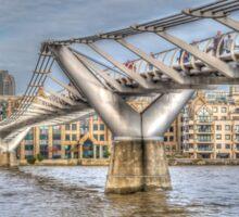 The Millennium Bridge, London Sticker