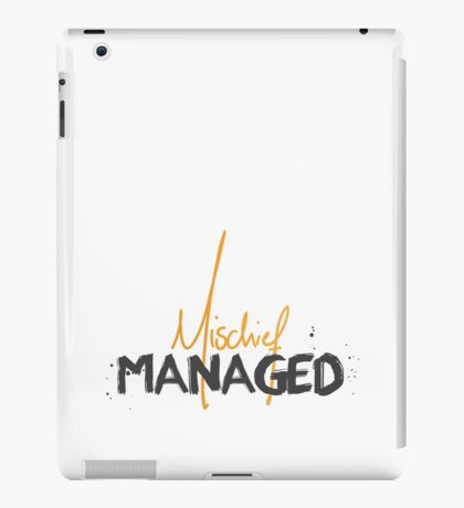 Mischief Managed 1 iPad Case/Skin