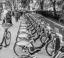Black and White Borris Bikes by martinlogan
