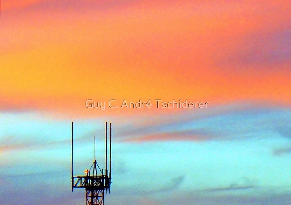The Antenna in the evening sky by Guy C. André Tschiderer