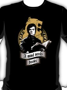A Mind Needs Books (Gold) T-Shirt