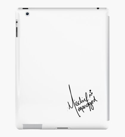 Mischief Managed 3 iPad Case/Skin