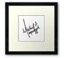 Mischief Managed 3 Framed Print