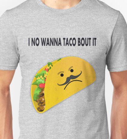 Taco Face Unhappy Pun Unisex T-Shirt