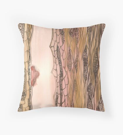 Birth of Paper Throw Pillow