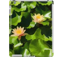 Light, Shadow and Color - Waterlily Pad Impression iPad Case/Skin