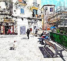 Agropoli: view square by Giuseppe Cocco